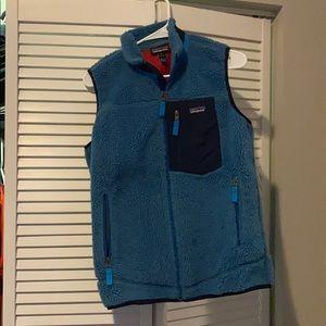 Blue Patagonia Fleece Vest